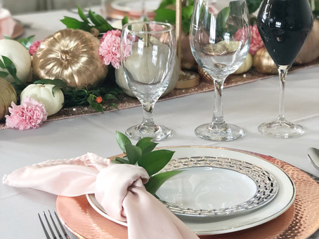 A Rose Gold and Silver Thanksgiving