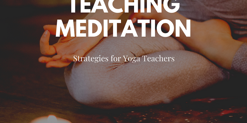 Strategies for Teaching Meditation-Free CEC Eligible Workshop