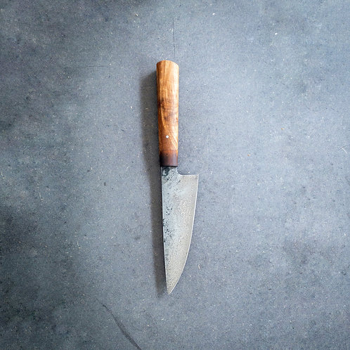 Damascus Chef Knife with flambéd yew