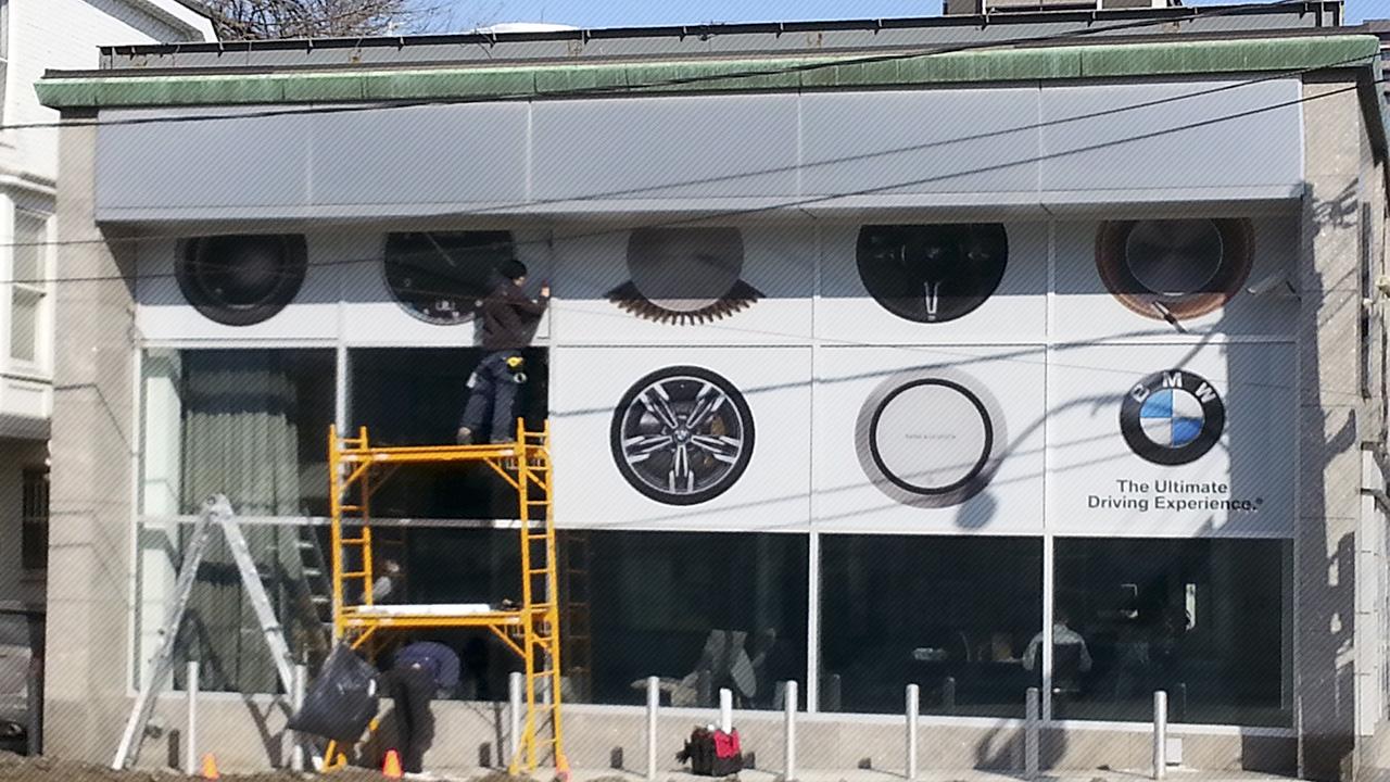 Window graphic installation
