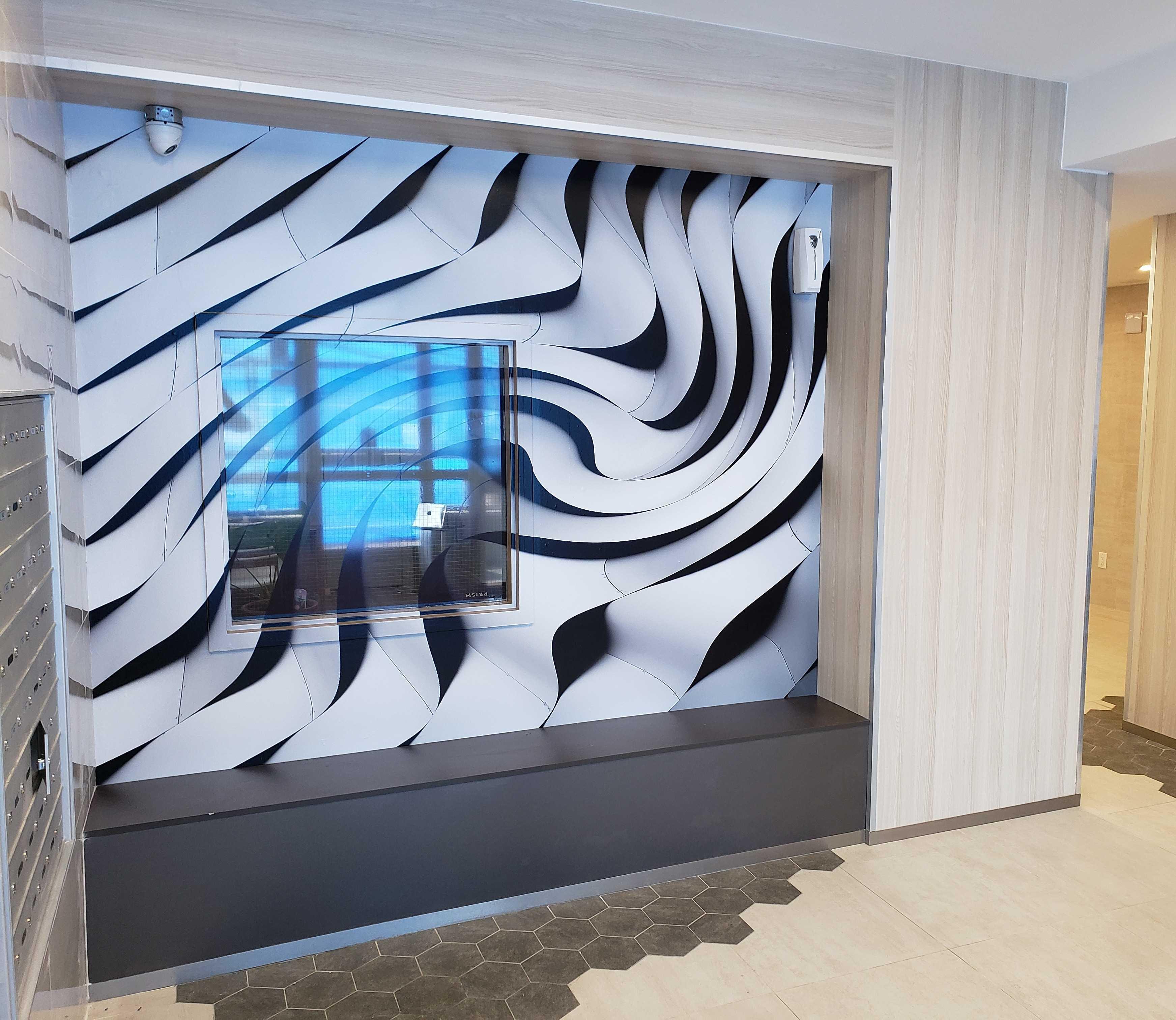 Creative lobby wall graohic