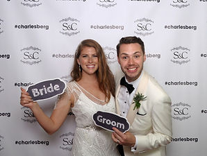 step and repeat wedding photo booth, smi