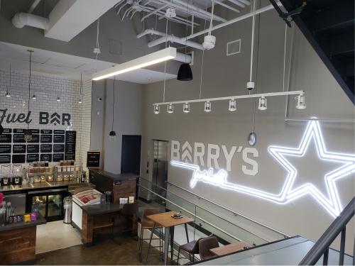 neon and custom store menu