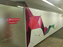 Large wall graphic print and install