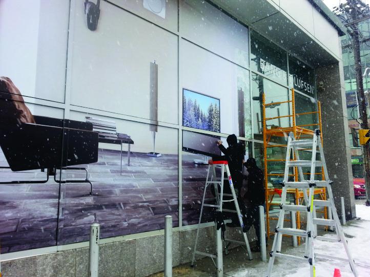 Window Advertisement installation