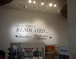 Cut lettering Installation
