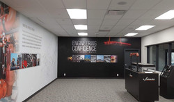 showroom wall mural graphic