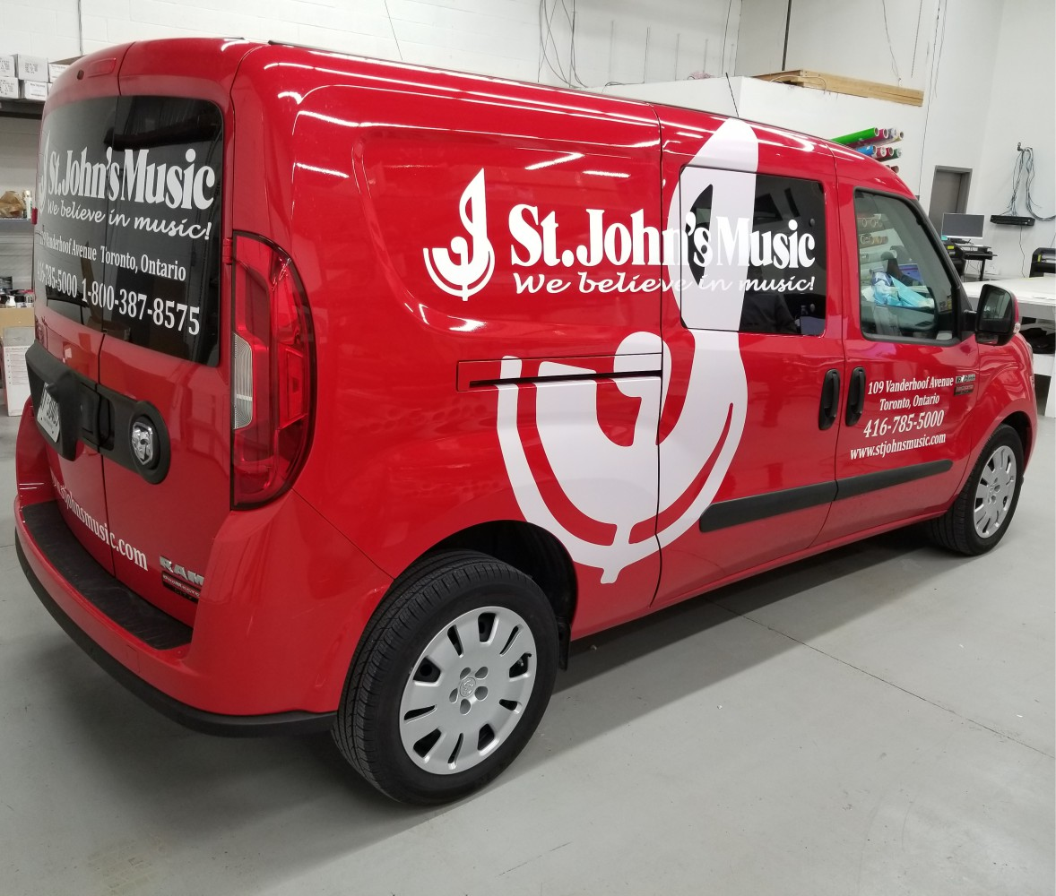 Van wrap car decals