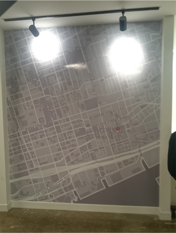 Wall graphic toronto map