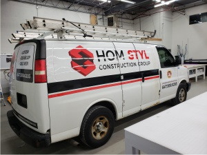construction van decals wrap