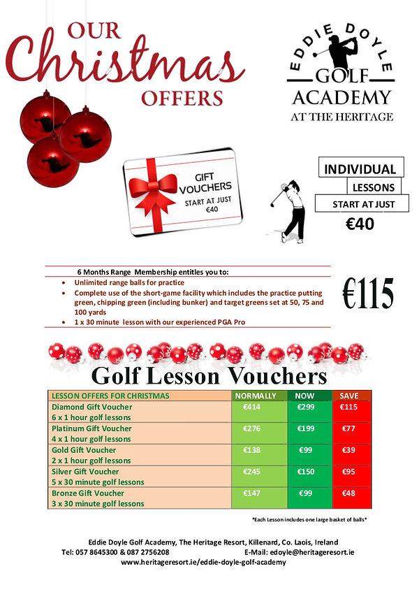 Christmas Offers Eddie Doyle Golf Academ