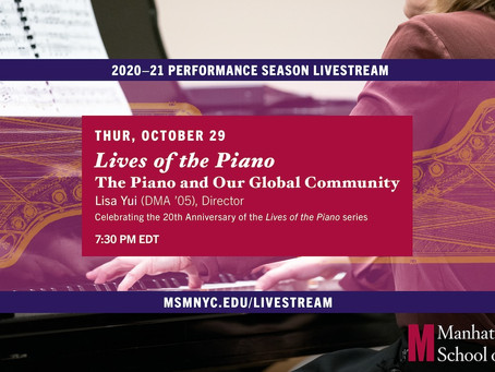 The Piano and the Global Community: The Lives of the Piano 20th Season Anniversary Concert (video)