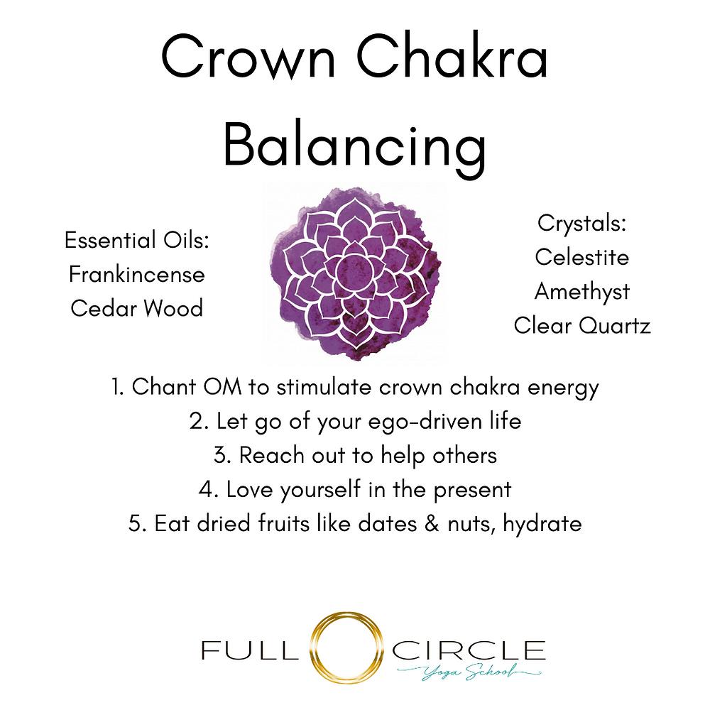crown chakra balancing chart