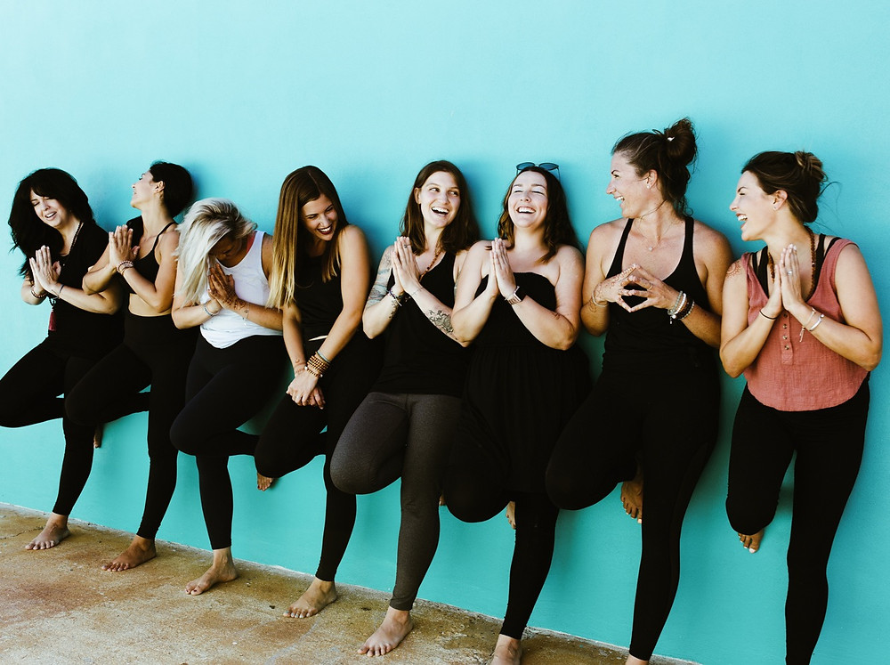 yoga teacher training students