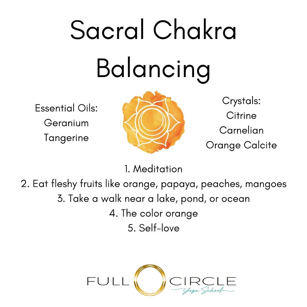sacral chakra balancing chart