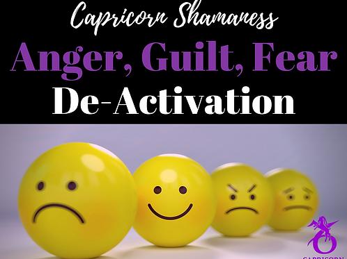 Anger, Guilt and Fear De-Activation