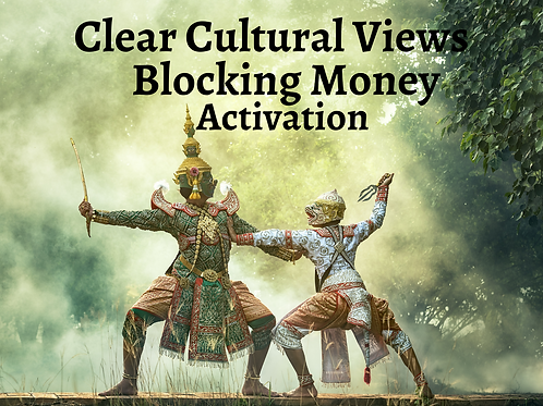 Clear Cultural Views Blocking Money