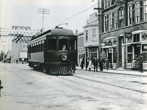 The Interurban coming northbound from Minster carrying people and parcels