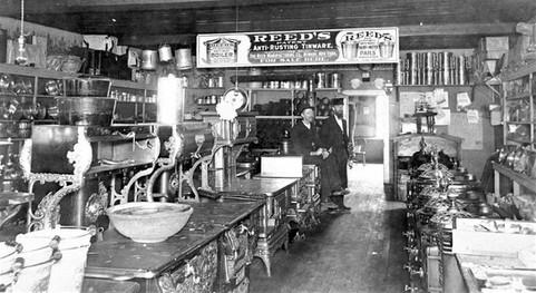 August Dierker's tin shop late 1800's