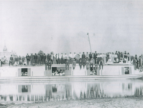 The Canal Boat was a big thrill for everyone to see