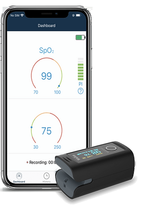 Saturimetro a Dito Bluetooth +curva+memoria+allarmi DT3-BT