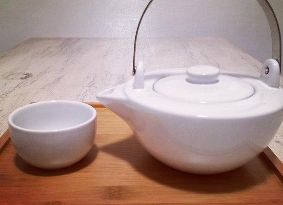Service à thé Blanc d'Ivoire