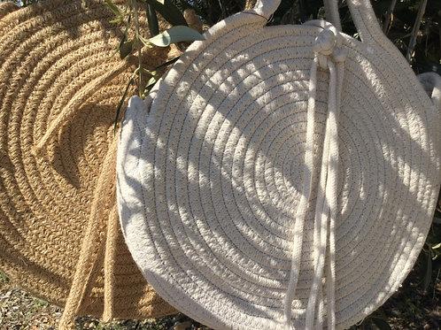 Sac rond corde et coton
