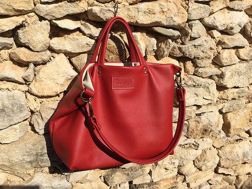 Modèle romane cuir rouge