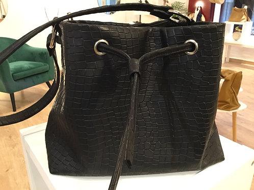 Modèle matilda medio cuir noir croco