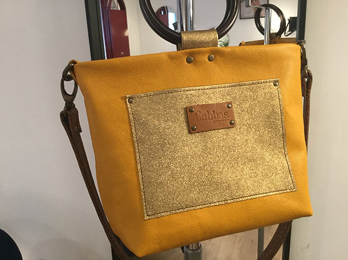 Modèle Anna cuir jaune & Or