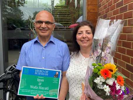 Bahá'ís  in Burnham recognised for their social action during lockdown