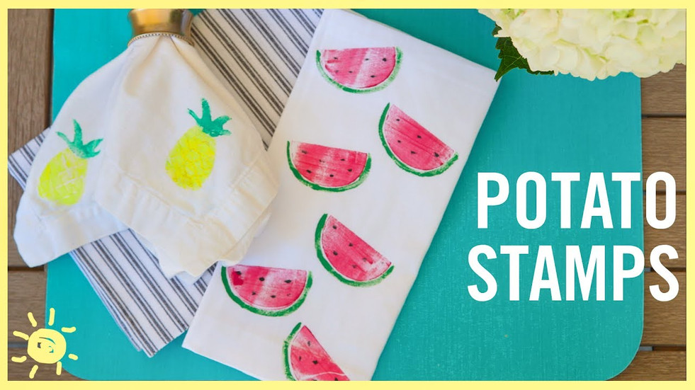 If you're interested in making cards for your neighbors, or just want a fun activity at home, look no further than the wonderful world of stamps. Here you can learn how to make your own custom stamps using a potato!