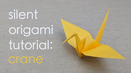 Take some time in peaceful focus to make an origami crane. All you need is a piece of paper and some patience! These cranes could make a simple gift to brighten someone's day.