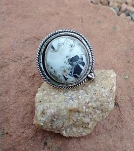 White Buffalo ring - Sandra Boyer