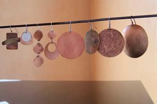 Copper variety earrings - Bessy Berman