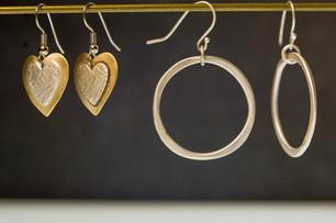 hoops and hearts earrings - Bessy Berman