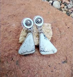 White Buffalo post earrings - Sandra Boyer
