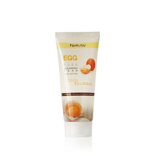 Пенка для умывания с яйцом FarmStay Egg Pure Cleansing Foam 180 мл.