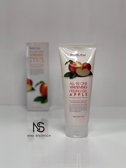 Пилинг-гель для лица яблоко FarmStay All In One Whitening Peeling Gel apple180мл