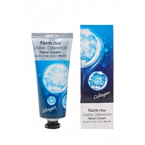 Крем для рук с коллагеном FarmStay Visible Differerce Hand Cream Collagen 100мл.