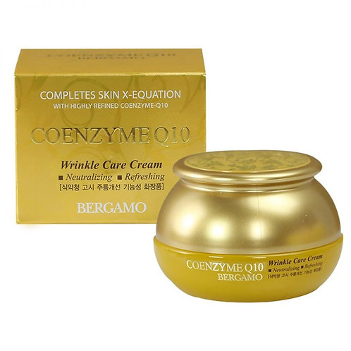 Омолаживающий крем с коэнзимом Q10 BERGAMO Coenzyme Q10 Wrinkle Care Cream 50 мл