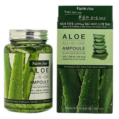 Многофункциональная сыворотка с алоэ вера FarmStay Aloe All-In One Ampoule 250мл