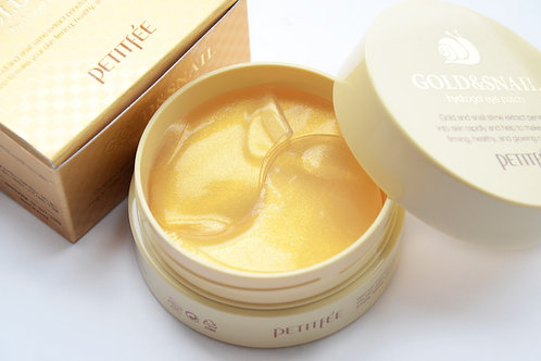 Petitfee Gold & Snail Hydrogel Eye Patch, 60 шт.