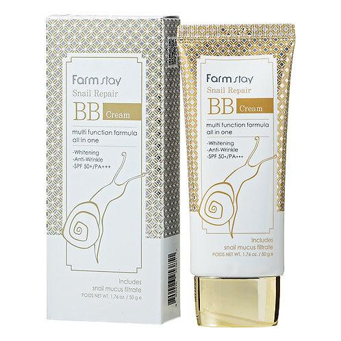 Регенерирующий ББ крем с муцином улитки FarmStay Snail Repair BB Cream, 50 мл.