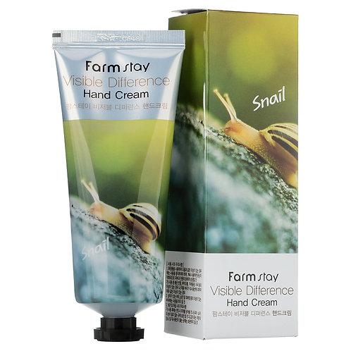 Крем для рук с экстрактом улитки FarmStay Visible Difference Snail Hand Cream