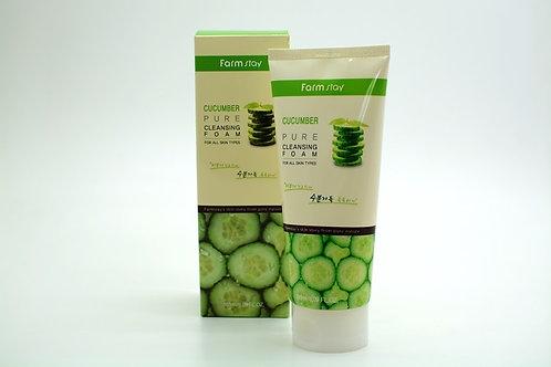 Пенка для умывания - Огурец FarmStay Cucumber Pure Cleansing Foam, 180 мл.
