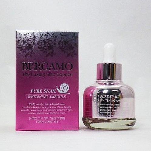 Ампульная сыворотка с улиточным муцином Bergamo Pure Snail Whitening Ampoule