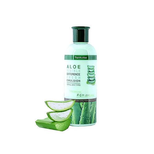Эмульсия с экстрактом алоэ Farmstay Visible Difference Fresh Emulsion Aloe 350мл