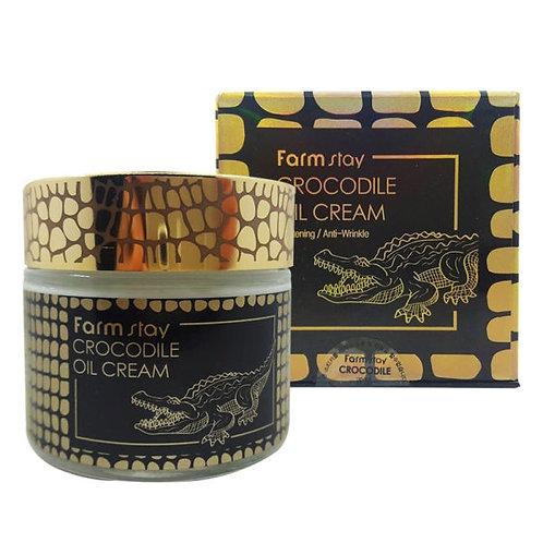 Крем для лица с жиром крокодила FarmStay Crocodile Oil Cream 70 мл.