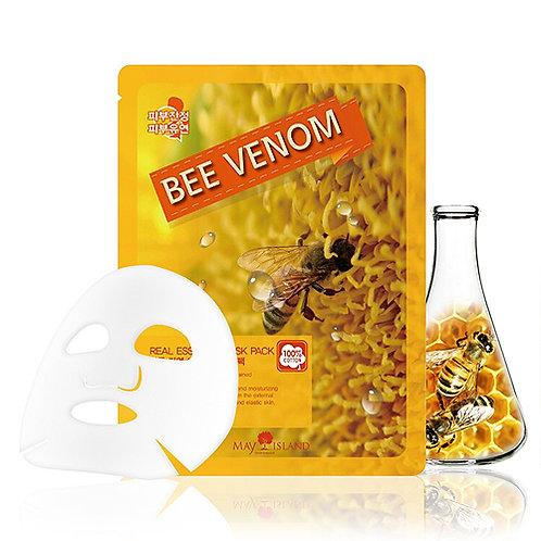 Тканевая маска для лица с экстрактом пчелиного яда May Island Real Essence Mask
